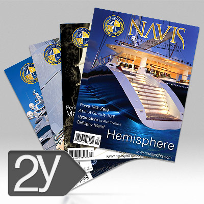 NAVIS Luxury Yacht Magazine 2 Years Subscription
